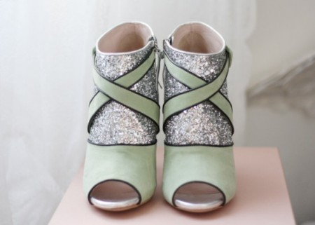 6bfdd13859dc Miu Miu Glitter Ankle Boots and Pumps - Shy Magazine - Shy Magazine