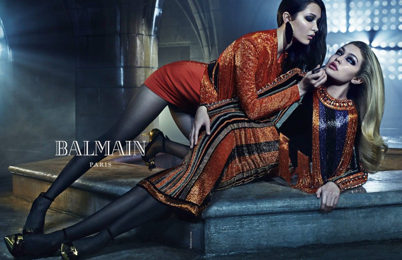 Balmain_Fall_Winter_2015_Bella_Hadid_Gigi_Hadid-800x518